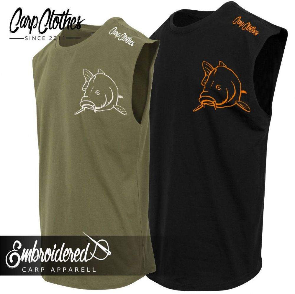 004 EMBROIDERED SLEEVELESS T-SHIRT